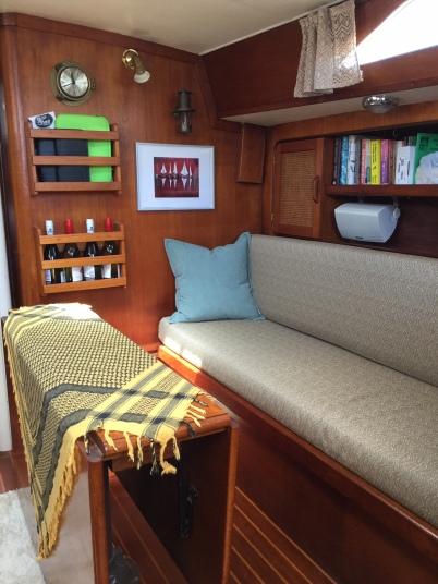 Light & airy main cabin when she's not sitting in the dark storage barn!
