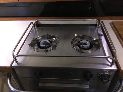 Two-burner propane stove and oven