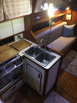 Galley with lots of storage